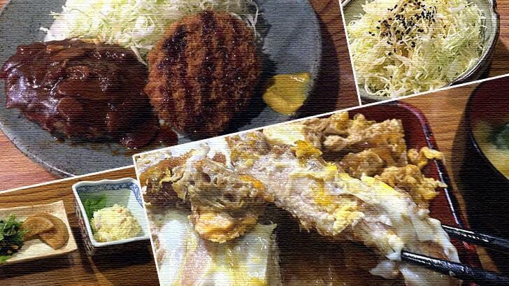 末広町近くの老舗『かつ進』絶品かつ重定食とハンバーグ定食