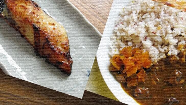 焼き魚にはカレー 食べ合わせが悪いのも含めて母の味