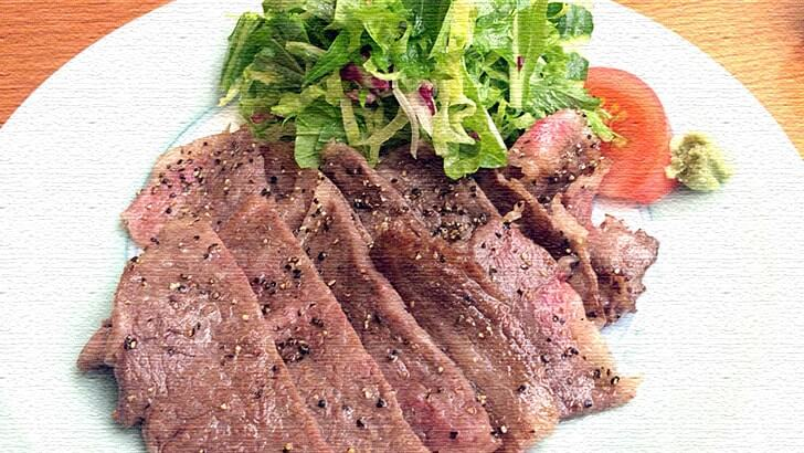 銀座『吉澤』ランチメニューの薄切りステーキ御膳が旨すぎた