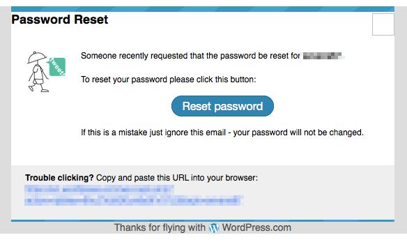 LinkedInパスワード流出の影響でWordPressからパスワードリセットメールが届いた