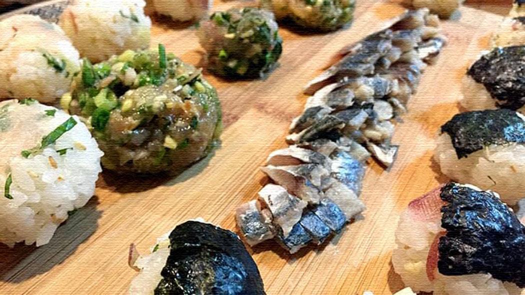 カワハギ刺身+肝醤油・しめ鯖・アジ等のなめろう!釣った魚を食す!