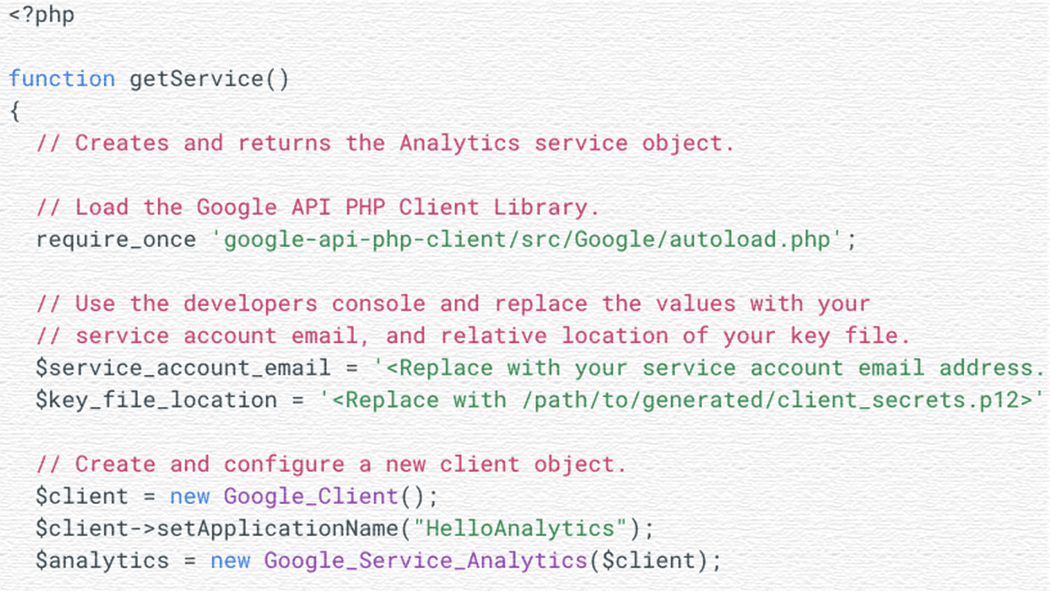 GoogleアナリティクスAPIの序盤!HelloAnalytics.phpを動かしてみた