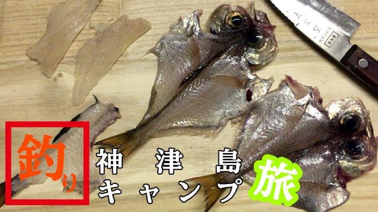 ハタンポで釣りメシ!神津島釣りキャンプ開始も釣りは絶不調
