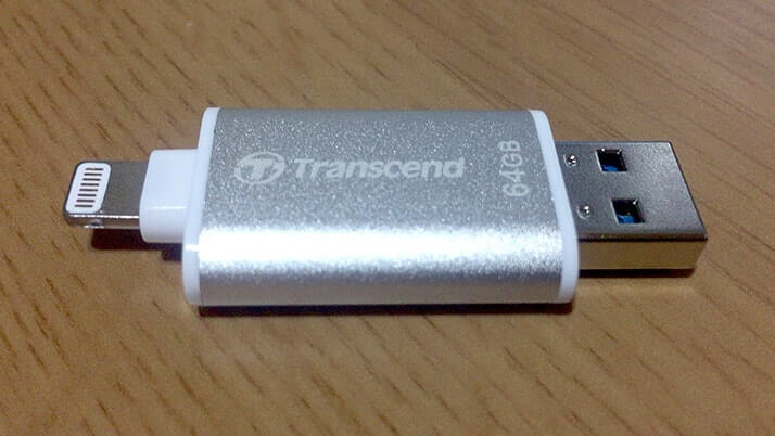 JetDrive Go 300をiPhoneの容量不足解消に!Lightning搭載USBメモリ