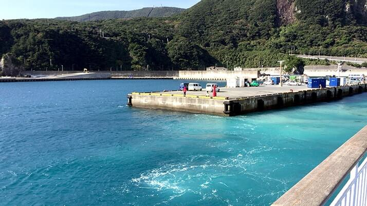 一週間の神津島釣りキャンプも終了!帰りは多幸湾から出航!