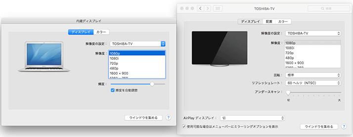 MacBookとテレビを接続してディスプレイとして利用!
