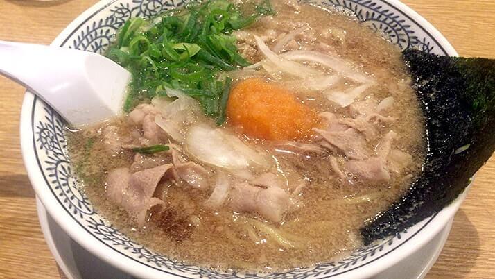 ラーメン丸源|旨味の強いスープに柔らかい豚肉…肉そばが旨い