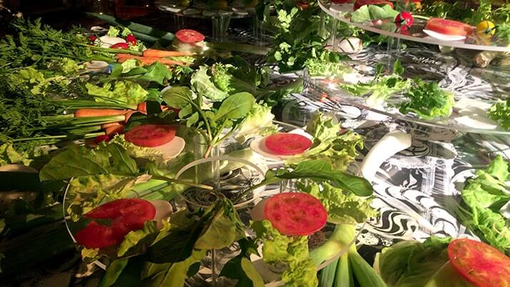 野菜でアート!?見て美しく食べておいしいアートイベントArtrium「Salad Session」
