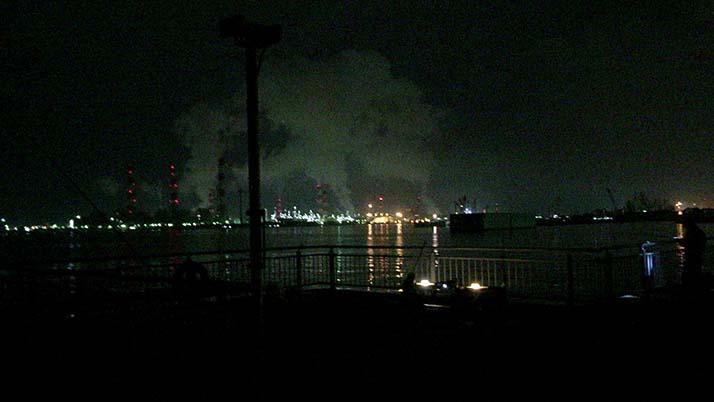 念願の初イカ!茨城鹿嶋の堤防夜釣りでケンサキイカが釣れたよ
