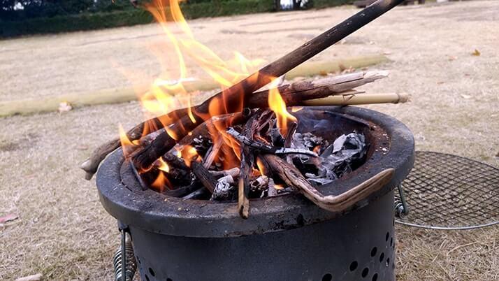若洲海浜公園で釣りのち焚き火!釣り場やキャンプサイトの様子