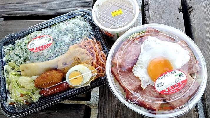 那覇市久米「丸江弁当」ボリューム満点弁当を海沿いで食べる幸せ