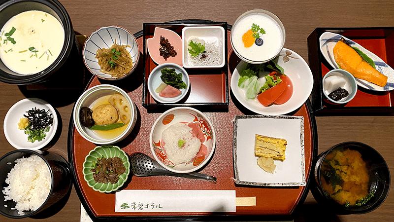 常磐ホテルでの朝食と美しい日本庭園|山梨甲府旅行1泊2日④