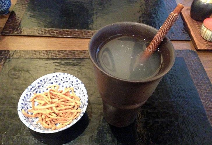 綾瀬の蕎麦屋『重吉』 焼酎そば湯割りと〆の手打ちそば