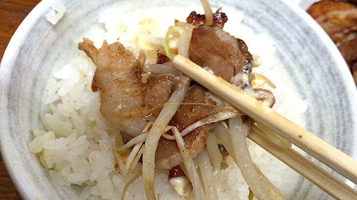 葛飾区四つ木『ファミリー亭』ボリューム満点の焼きチャーシュー定食