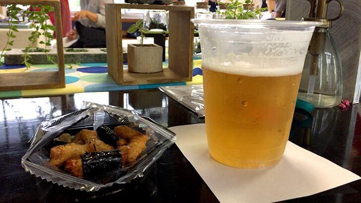 夏の夜のテラデマルシェへ!出店そっちのけでお寺でビール!